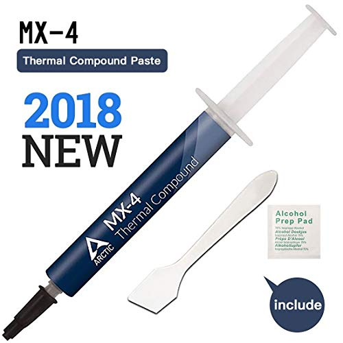 ARCTIC MX-4 - Pâte thermique pour processeur CPU et GPU | Conductivité thermique optimale | Non corrosive | Non conductive | Facile à appliquer - 4g