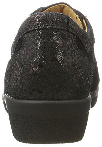 Ganter Sensitiv Inge-i, Zapatos Con Cordones Mujer Negro (schwarz / Vino)
