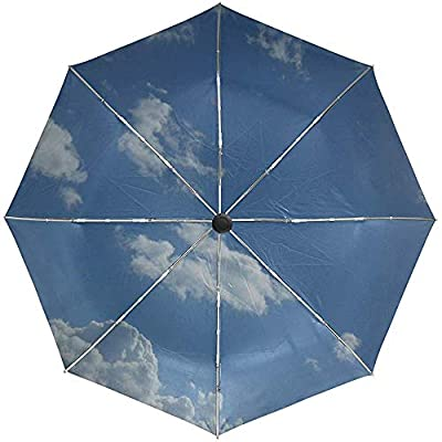 Paraguas automático Cielo Nubes Viaje Ligero Conveniente A Prueba de Viento Impermeable Secado rápido Plegado Automático Abrir Cerrar