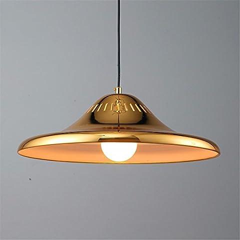 LilaminsThebox Les lustres anciens nordiques créatifs personnalité industrielle salon lustre minimaliste le restaurant boutiques modernes Flying Saucer Lampes ,45*15cm Lustre