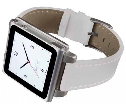 Hex hx1141-WHTE Vision Classic Leather Armband aus Leder für iPod Nano 6, Weiß