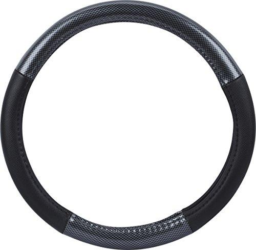 Preisvergleich Produktbild hr-imotion Design Lenkradbezug für Lenkräder zwischen 37 bis 39 cm Durchmesser in Carbon Fiber Optik [5 Jahre Garantie   Griffsicher   Schweißregulierend   Design in Germany] - 10811401