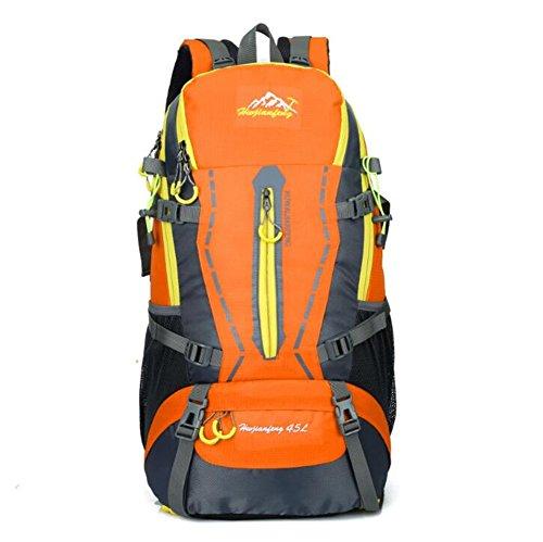 Wmshpeds Moda zaino sportivo 45L alpinismo professionale borsa di uomini e di donne con lo stesso outdoor borsa a tracolla A