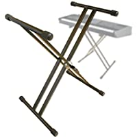 Support de Clavier (digne des YAMAHA CASIO KORG ROLAND) clavier E-Piano piano Piano numérique Synthétiseur Stagepiano - Pied pour Keyboard Stand de piano X-Trépied support Dépôt support - modèle : KS4