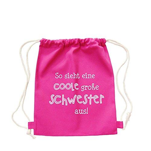 Partybob Kinder Rucksack Coole große Schwester (Pink)