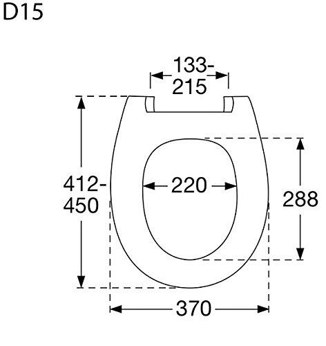 Pressalit Calmo WC-Sitz weiß, mit Absenkautomatik, D02-Universalscharnier – Befestigung von oben, 556000D02999