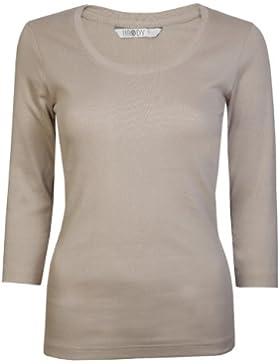 Traje de neopreno para mujer Tops 3/4 con cierre de solapa y T-shirts FUSTA algodón exclusivamente By Brody y...