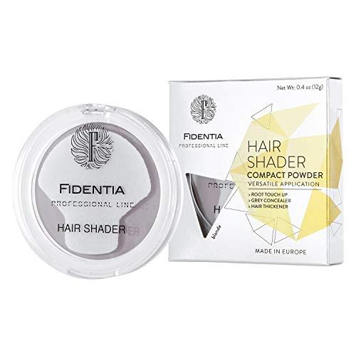 Fidentia Haar Concealer - Haarpuder zur Haarverdichtung, Ansatz kaschieren, Grauhaarabdeckung - 12g (Blond)