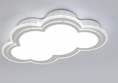 FGSGZ Kinder Decke Lampen Kreative Wolken Led Jungen Und Mädchen Schlafzimmer Student Beleuchtung Weiße Weißes Licht 55*35Cm