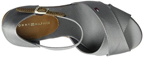 Tommy Hilfiger Damen E1285lena 43d Knöchelriemchen Grau (Light Grey 007)