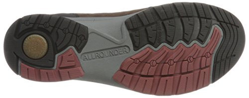 Allrounder by Mephisto Caletto-t Rubber 01/Ori 76 Black/Root, Chaussures de Running Compétition Homme Braun (Black/ROOT)