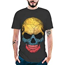 Moda para Hombre Splash-Ink ImpresióN En 3D Camisa De Calavera Camiseta De Manga Corta