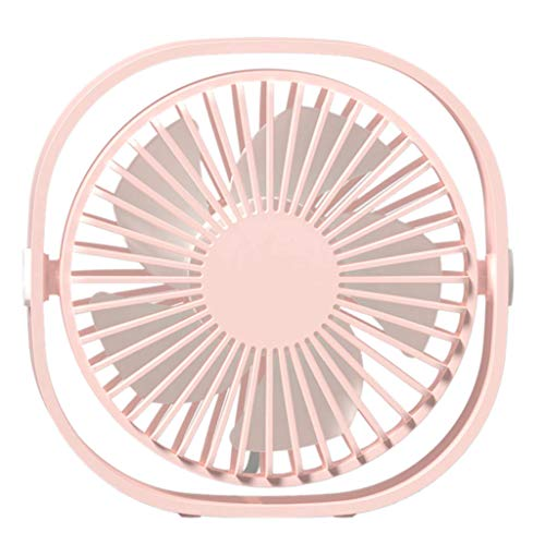 Younthone Tragbarer Ventilator USB Mini Exquisit Desktop Fan Leiser Betrieb LüFter Wind Mit 3 Geschwindigkeiten Einstellbar 360 Grad Drehung