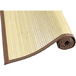 MI CASA Mi Alfombra de Bambu 180 x 240, Blanco, 180 x 240 cm