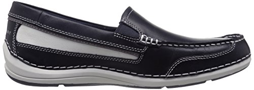Rockport Mens Shoal Lake Slip-On Boat Shoe- New Dress Blues Leather