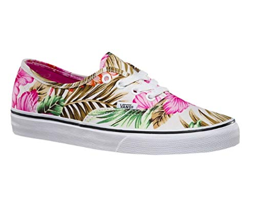deb4a987f7fbb2 Vans Women s Authentic Canvas Lace up Trainer Hawaiian Floral White-White-3