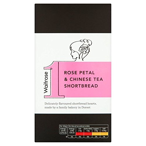 Rose Petal & Chinese Tea Shortbread Waitrose 135g (Pack of 2)