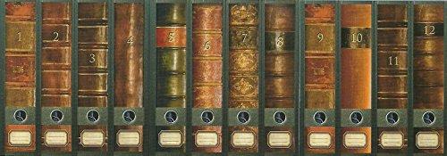 """File Art - Ordnerrücken Design Etiketten - Motiv """"Folio"""" für 12 breite Aktenordner als Kollektion FA-AJ311+312+313"""