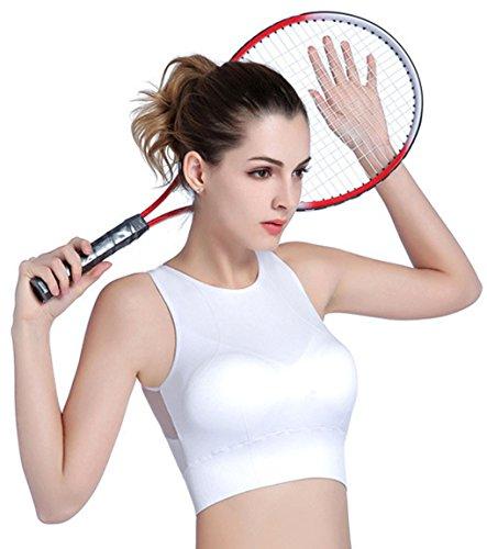 LemonGirl Damen Wireless High Impact stoßfest Mesh Spleißen Yoga Sport BH