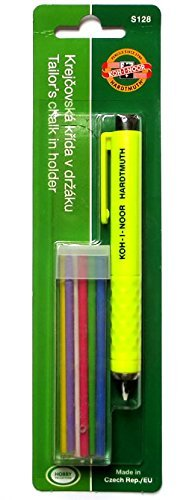 Koh-I-Noor S128PN8004BL Schneiderkreidestift, Kunststoff, farbig sortiert, 13.0 x 1.3 x 1.3 cm
