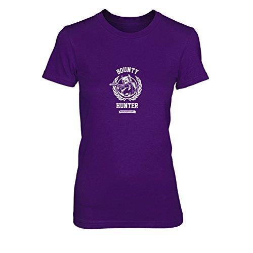 SW: Bounty Hunter Logo - Damen T-Shirt, Größe: XL, Farbe: lila