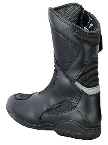 Motorradstiefel, neues Design, Touring, vollkommen wasserdicht, Schwarz - 2