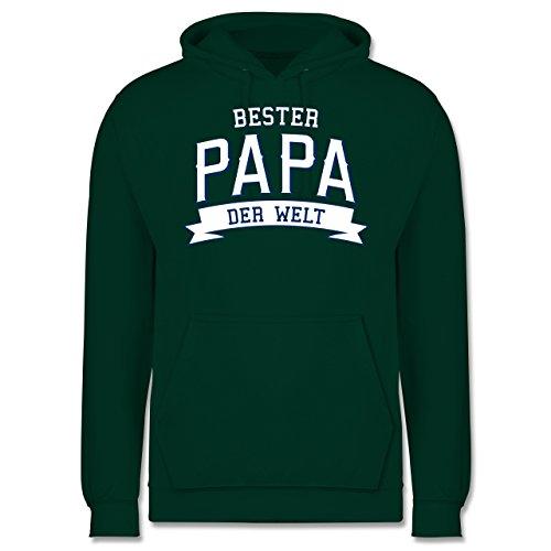 Vatertag - Bester Papa der Welt - Männer Premium Kapuzenpullover / Hoodie Dunkelgrün