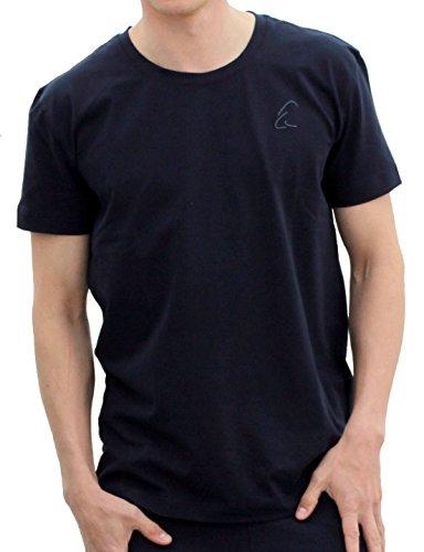 Esparto de–Camiseta de bhaalu, color azul oscuro, tamaño small