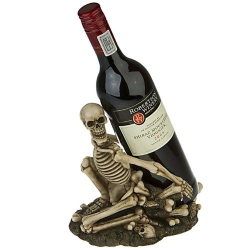 Weinflaschenhalter Skelett Skull Deko Figur