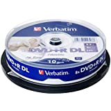 Verbatim 8.5GB Dual Layer DVD+R DL 8X Speed IJP Ink Jet Printable 64308