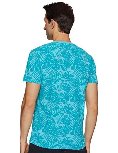 Best superdry bags in India 2020 Superdry Men's Printed Slim fit T-Shirt (M10114YT_Poolside Aqua_L) Image 3