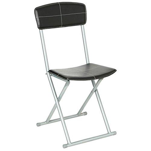 Chaise pliante - Noir - PVC