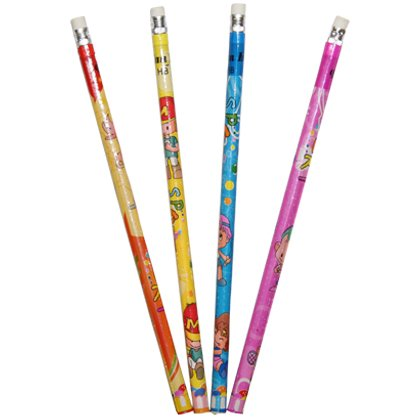 24 x Bleistifte mit Radiergummi Bleistift Schulbedarf