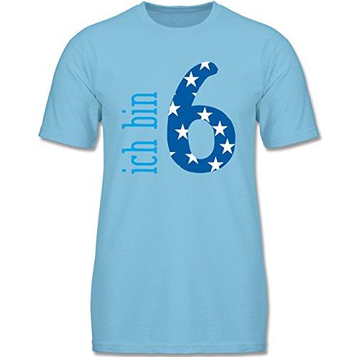 g Kind - Ich Bin 6 Blau Junge - 128 (7-8 Jahre) - Hellblau - F140K - Jungen T-Shirt (Oster-shirts Für Jungen)