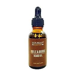 Huile � Barbe - Beard Oil - 100% Natural Blend of Castor Oil, Wheatgerm oil, Vetiver Oil and Vitamin E - 30ml