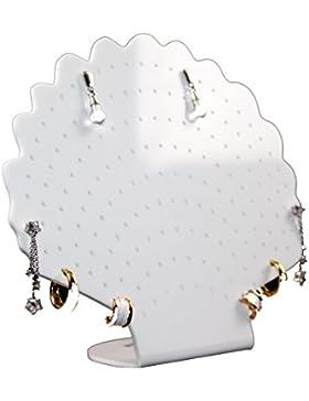 """Estellani® Ohrringständer """"Muschel"""" weiß, Schmuckständer, Ohrringdisplay, Ohrringhalter, Ohrsteckerständer, Jewelry..."""