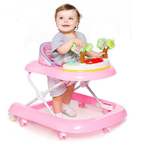 DULPLAY Baby lauflernhilfe,6-18 monate Safety 1st bereit Set, Zu fuß! Musik und licht Baby walker Folding Höhe verstellbar -B - Licht 4 Wachsen Fuß