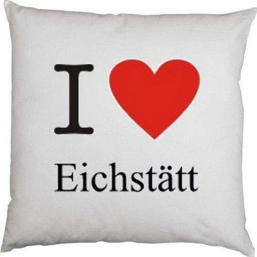 Kissen mit Füllung, Dekokissen, Couchkissen, Deko mit Herz - I love Eichstätt