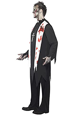 Homme adulte mâle Zombie Halloween costume Prêtre costume Ensemble (Priest Costume)