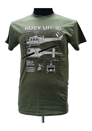 Huey UH-1D-Elicottero militare War Vietnam T-Shirt con motivo