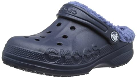 Crocs Baya Lined, Unisex-Child Clogs, Blue (Navy/Bijou Blue), 12/13 UK Child