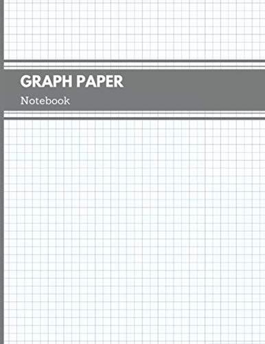 Graph Paper Notebook: Quad Rule 5x5 per Inch Composition Page Bound Comp Book, Minimalist Matte Grey Cover (Graph Paper Book, Band 2) (Clever Kostüm Für Zwei)