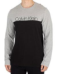 Calvin Klein Hombre Camiseta Longsleeved Graphic, Gris