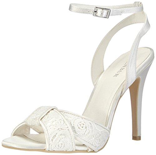 Menbur Wedding Paula, Sandali con cinturino alla caviglia donna, Avorio (Elfenbein (Ivory 04)), 37