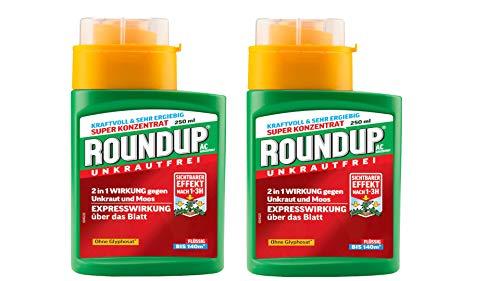 Roundup 2X 250ml AC Konzentrat (Ohne Glyphosat)