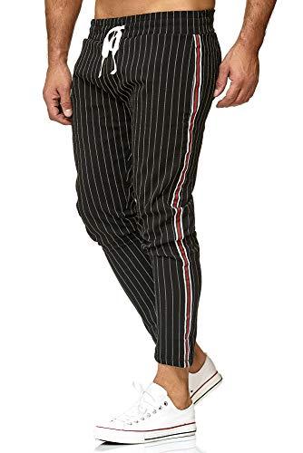 Redbridge Uomo Pantaloni Slim Fit Striscia Casual Scacchi Elastico Sportivi Chinos