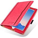 iPad 4 Case - The Original Red & Tan Leather Smart Cover for iPad 4 (with Retina Display), iPad 3 & iPad 2