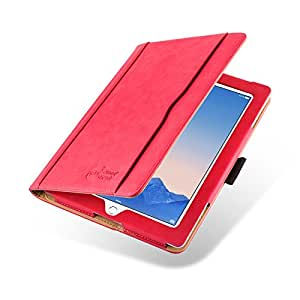 iPad 4 Case - The Original Red & Tan Leather Smart Cover for iPad 4 (with Retina Display), iPad 3 & iPad 2