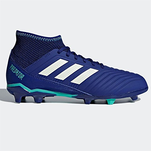 adidas Unisex-Kinder Predator 18.3 FG Fußballschuhe, Blau (blau/grün blau/grün), 38 EU