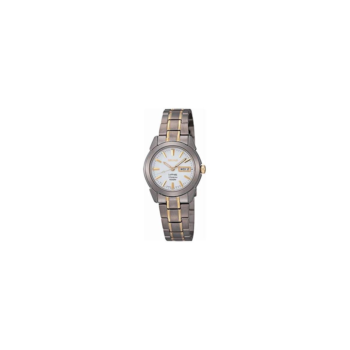 41P gf3qsJL. SS1200  - Seiko SXA115P1 - Reloj analógico de mujer de cuarzo con correa de titanio gris - sumergible a 100 metros